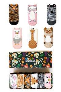 6'lı Kulaklı Hayvanlar Alemi Bilek Tasarım Çorap Kutusu