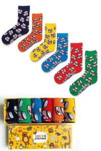 6'lı Renkli Nutella Özel Tasarım Çorap Kutusu