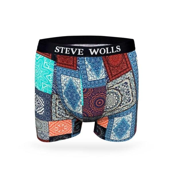 Premium renkli halı desenli Dijital boxer