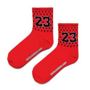 23 kırmızı tenis NBA çorap