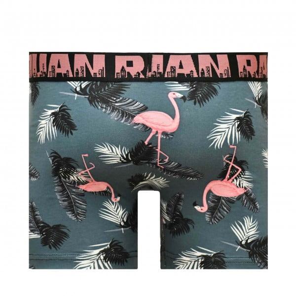 Erkek Desenli Pembe Flamingolu Boxer
