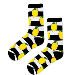 Limonlu çizgili çorap
