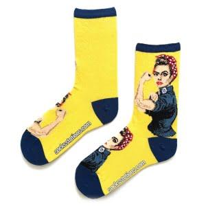 sarı we can do it çorap