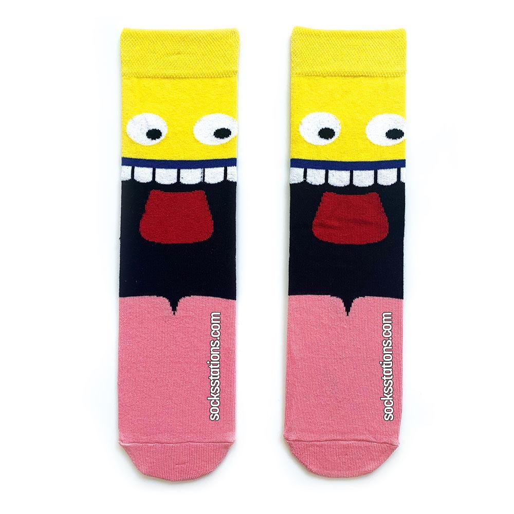 Komik yüzlü çorap