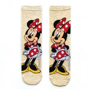 Minnie Mouse gri çorap