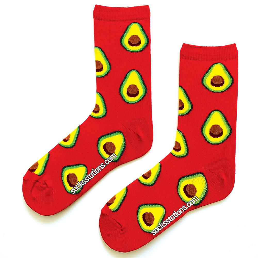 Avokadolar kırmızı çorap