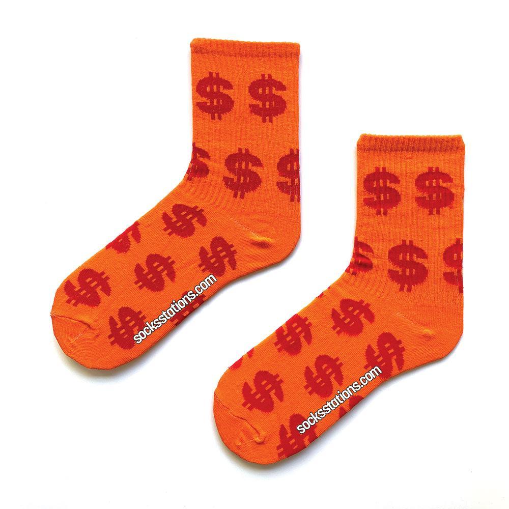 Dolar turuncu çorap