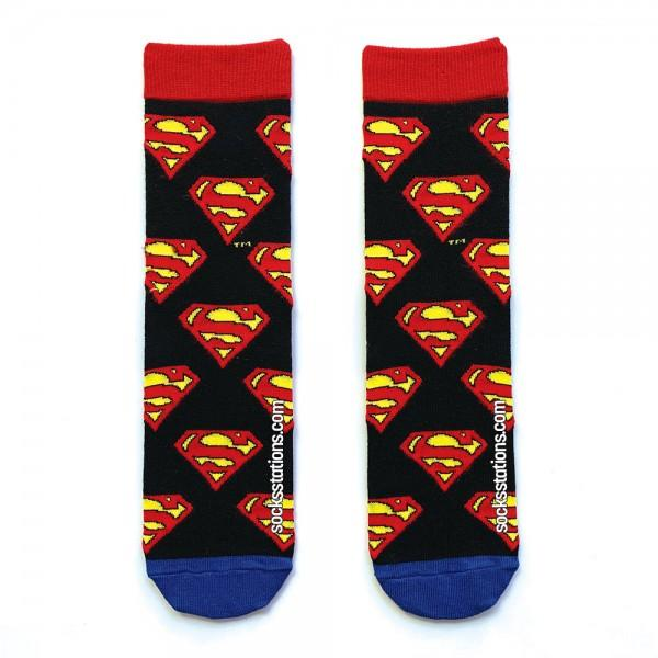 superman siyah çorap
