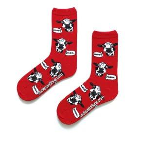 Kırmızı inekli çorap
