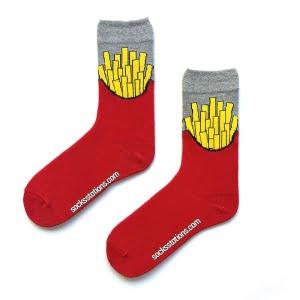 Patates kızartmalı kırmızı çorap