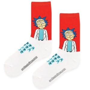 rick kırmızı beyaz çorap