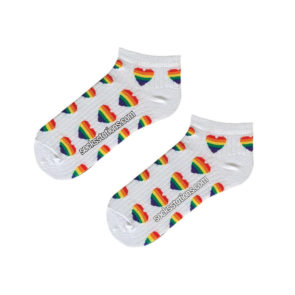 Renkli kalpli bilek çorap