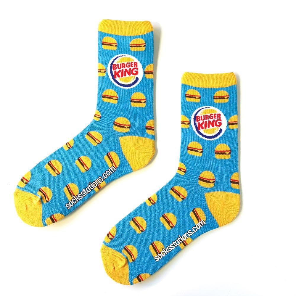 Burger King mavi çorap