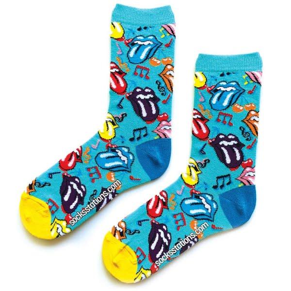 (42-46) Erkek Renkli Notalı Rolling Stone ÇoraP