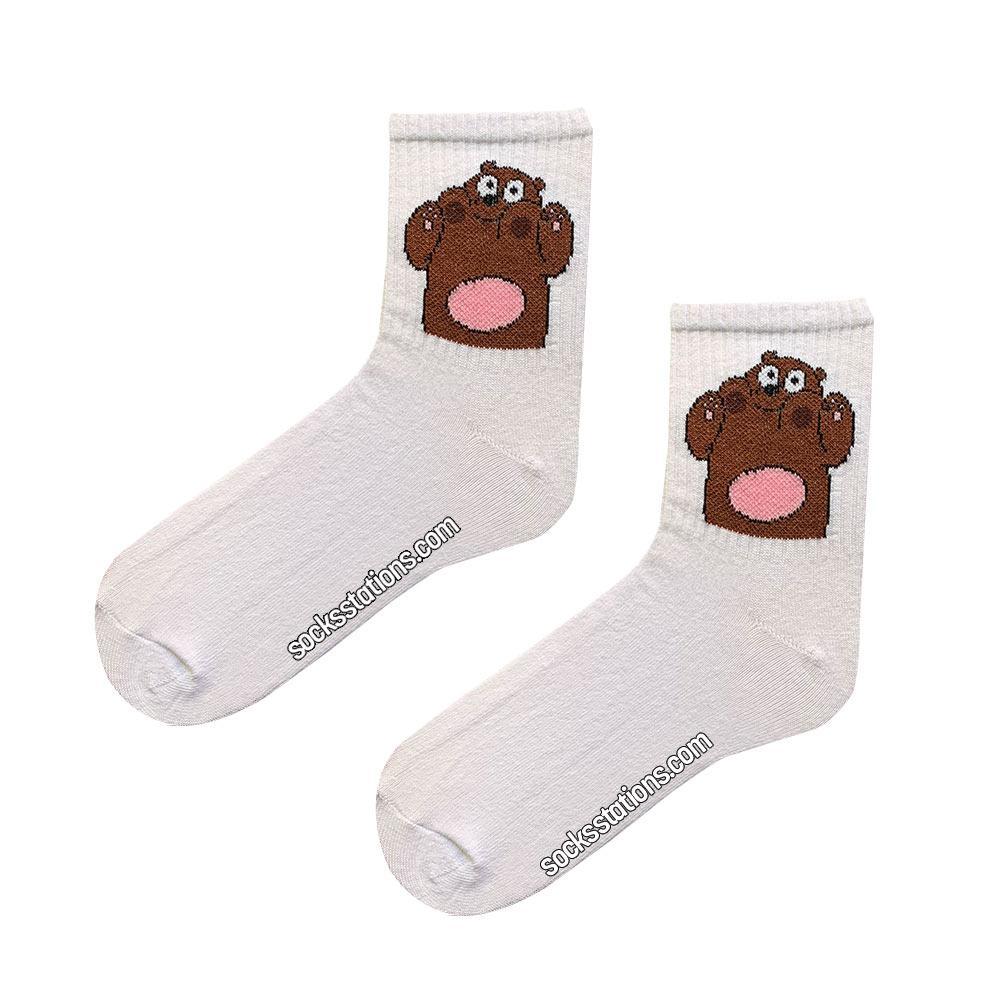 tenis beyaz ayıcık çorap
