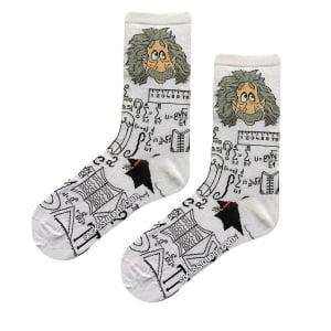 einstein formüllü beyaz çorap