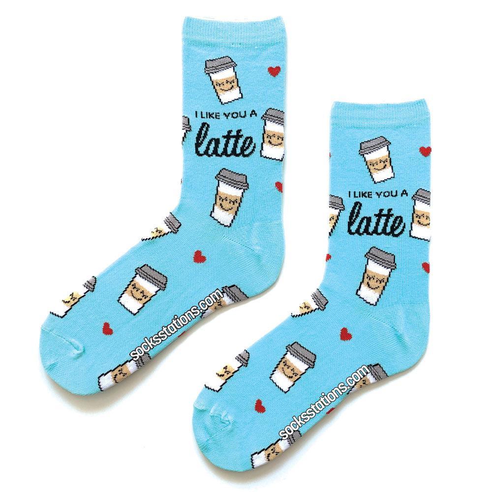 Latte renkli desenli çorap