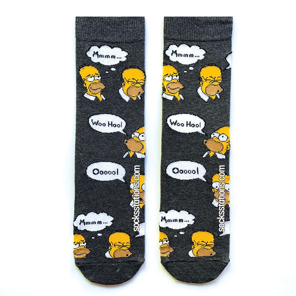 Simpsons woohoo gri çorap
