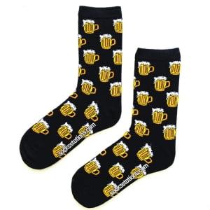 Biralı Siyah Çorap