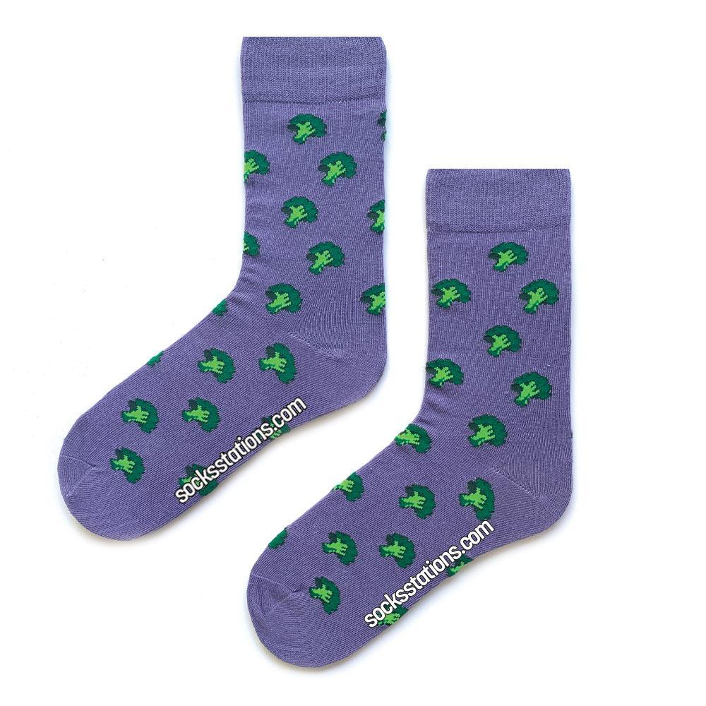 Brokoli mor çorap