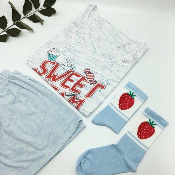 Sweat dream şortlu pijama takımı