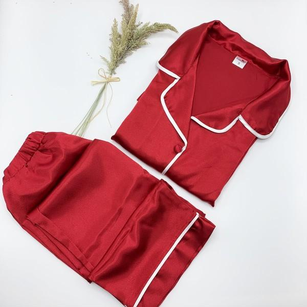 Bordo pijama takımı