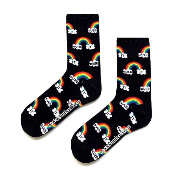 siyah gökkuşağı çorap