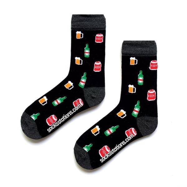 Bira desenli çorap