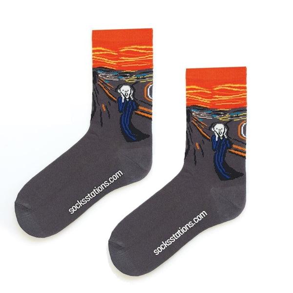 Çığlık Tablosu Sanatsal Çorap