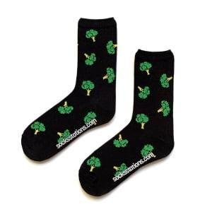 Siyah Büyük Brokoli Çorap
