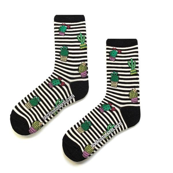 Çizgili Kaktüs Çorap