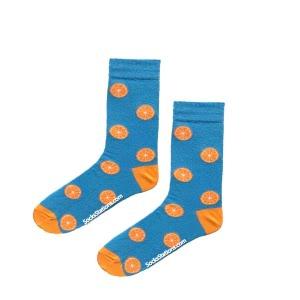 Çocuk Portakal Mavi Çorap 9 yaş