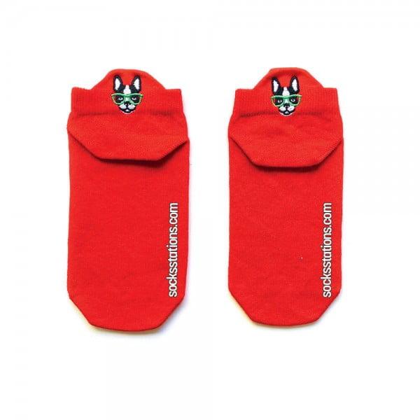 Kırmızı Renkli Patik Çorap