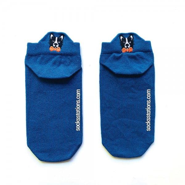 Mavi Renkli Patik Çorap