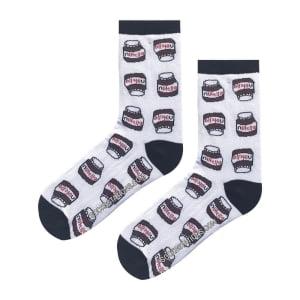 Minik Nutella Desenli Çorap