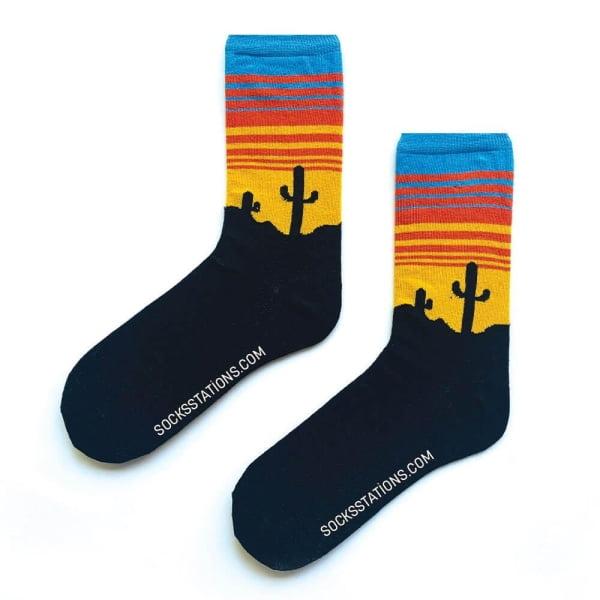 Renkli Çöl Kaktüs Çorap