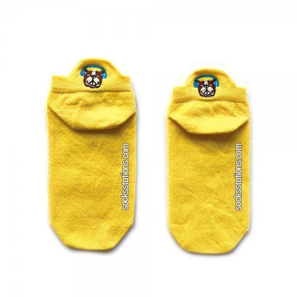 Sarı Renkli Patik Çorap