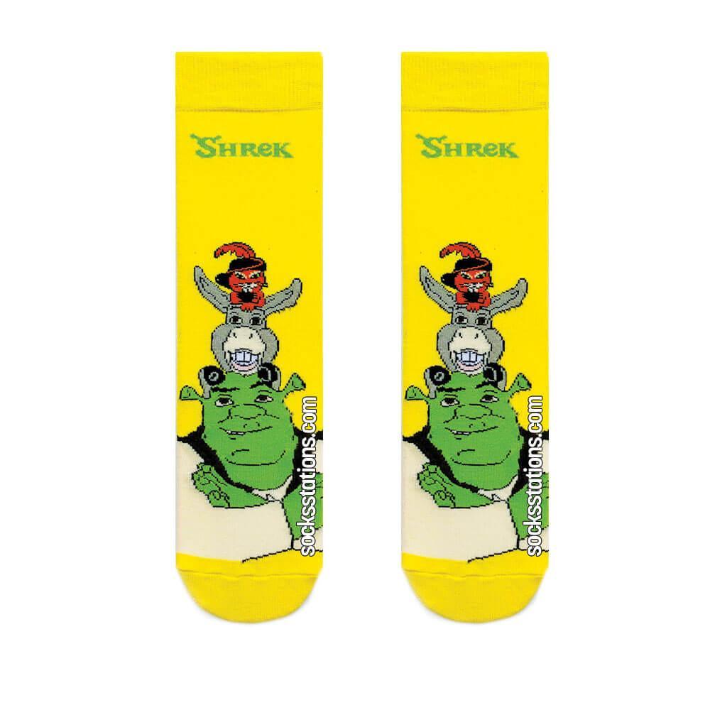 Shrek sarı çorap