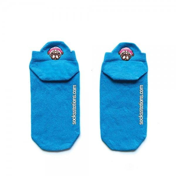 Turkuaz Renkli Patik Çorap