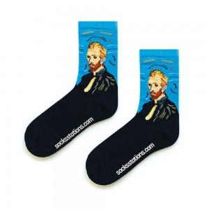Van Gogh Mavi Sanatsal Çorap