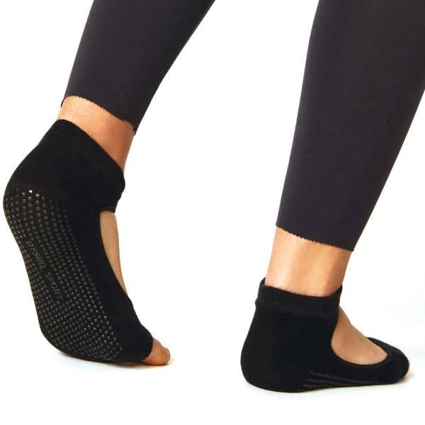 Kaydırmaz Taban Siyah Yoga ve Pilates Çorap