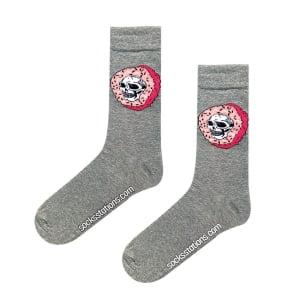 (42-46) Erkek Kurukafa Donut Gri MEN Çorap
