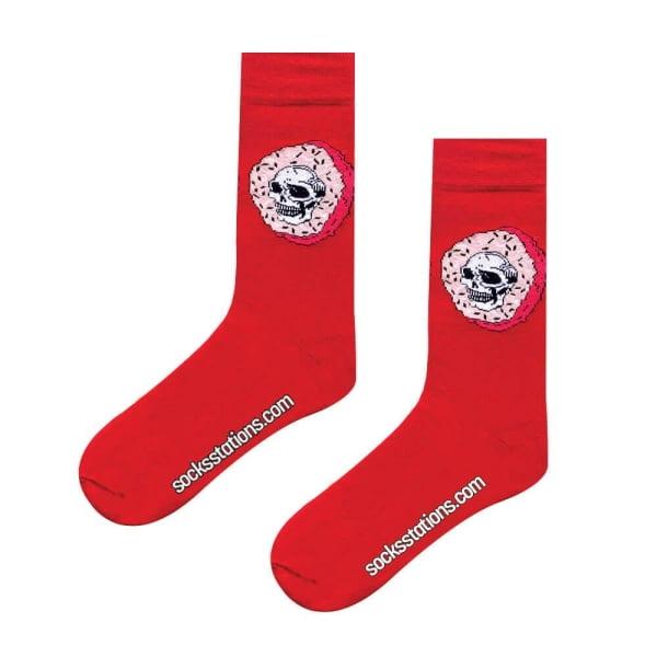 (42-46) Erkek Kurukafa Donut Kırmızı MEN Çorap
