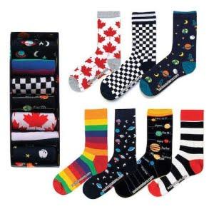 Desenli Çorap Kutusu 7'li Özel Set