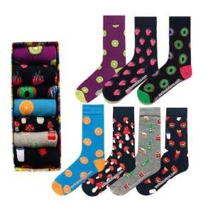 (43-47) Renkli Erkek Çorap Kutusu 7'li Özel Set