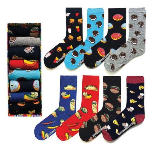 Renkli Çorap Kutusu 8'li Özel Set