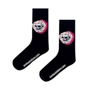 (42-46 Erkek Kurukafa Donut Siyah MEN Çorap