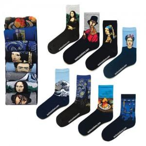 8li ünlü tablolar çorap kutusu