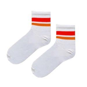 Turuncu Çift Çizgi Tenis Çorap