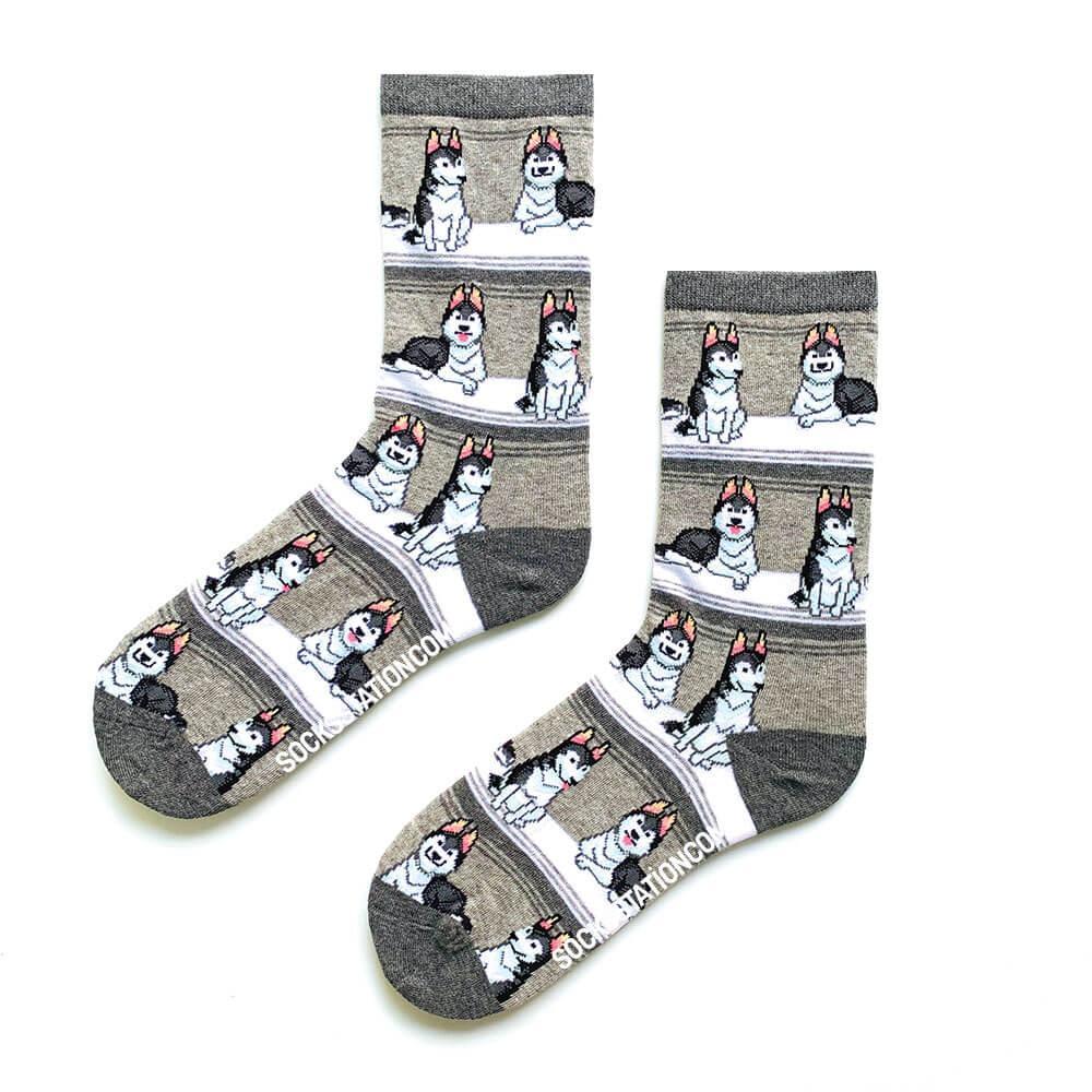 Sibirya Gri Renkli Çorap